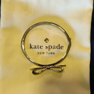 New Kate Spade silver bow bangle bracelet